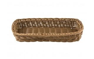 Koszyk polipropylen 27cm brązowy