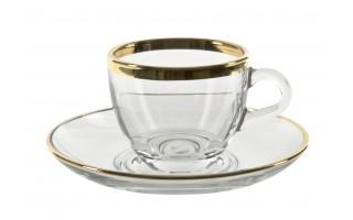 6x Filiżanka espresso+spodek Golden Line