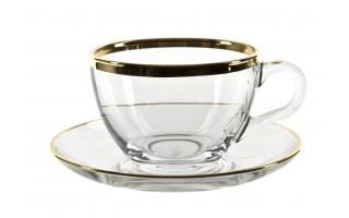 6x Filiżanka cappuccino+spodek Golden Line