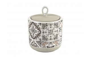 Pojemnik porcelanowy 10cm Casadecor Grey