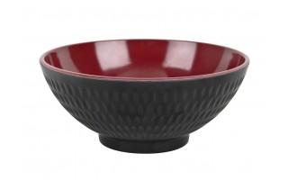 Miska 0,6L Asia czarno-czerwona