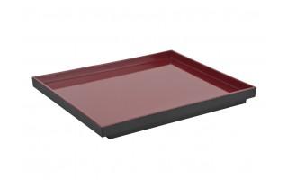 Taca prostokątna Asia czarno-czerwona
