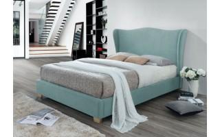 Łóżko tapicerowane Carmen (niebieskie)