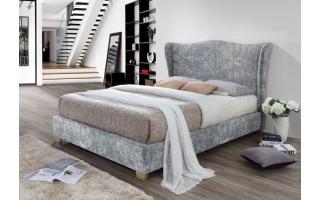 Łóżko tapicerowane Carmen (szary melanż)