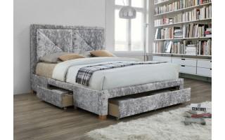 Łóżko tapicerowane Mario (szary melanż)