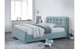 Łóżko tapicerowane Happy (niebieskie)