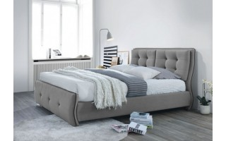 Łóżko tapicerowane Happy (szary)