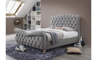 Łóżko tapicerowane Jasmine (szary)