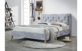 Łóżko tapicerowane Iris (szary melanż)