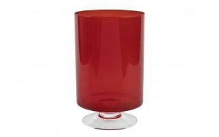 Świecznik 25cm czerwony
