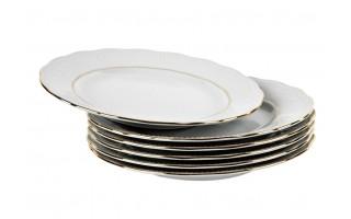 Komplet 6 talerzy deserowych 19cm Złota Gloria