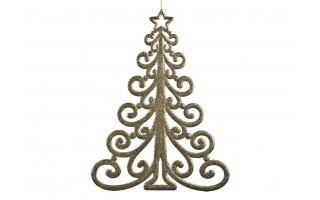 Ozdoba świąteczena Choinka złota