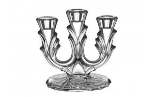 Świecznik kryształowy trójramienny Bohemia