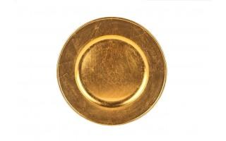 Talerz plastikowy ozdobny 30cm - złoty