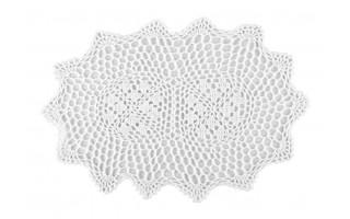 Serweta na stół 35x45 ażurowa biała