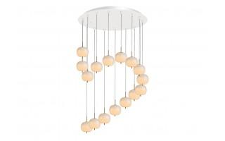 Lampa wisząca Jabłko MD5069A-16 srebrna