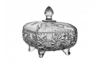 Salaterka kryształowa18x18cm Pinwheel Bohemia