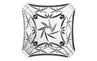 Talerz kryształowy płytki 18cm Pinwheel Bohemia