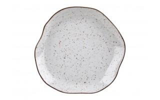 Talerz płytki 25cm Stone Age Cream