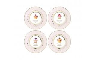 Komplet 4 talerzy deserowych Pattisserie Royal