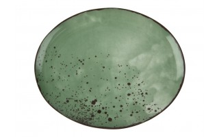 Talerz owalny płytki 22x18cm Pepper Green