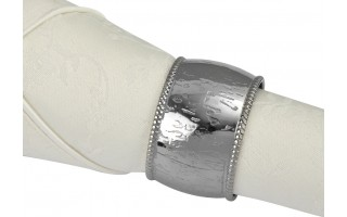 Obrączka na serwetę MI silver