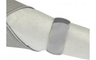 Obrączka na serwetę Oval MI silver