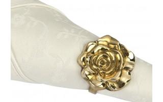Obrączka na serwetę Róża gold