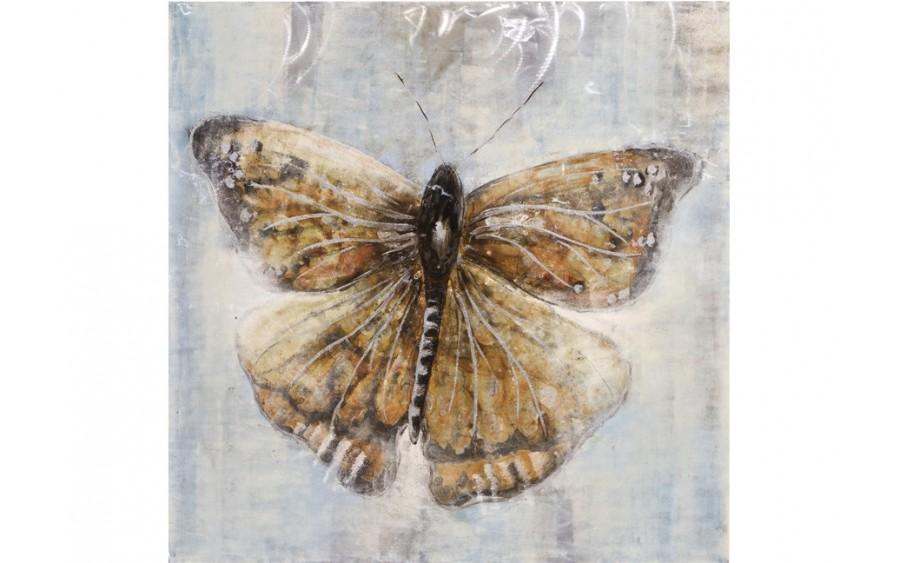Obraz na płótnie 100x100cm Motyl