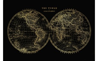 Obraz szklany 150x100 Gold maps