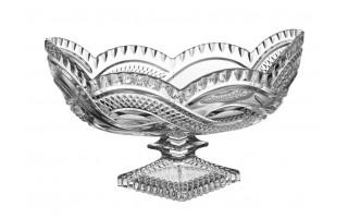 Salaterka kryształowa owalna Bohemia