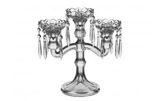 Świecznik kryształowy potrójny Bohemia