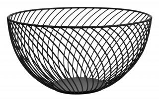 Koszyk na owoce metalowy czarny śr. 26cm