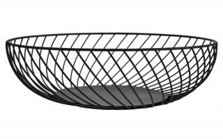 Koszyk na owoce metalowy czarny śr. 28,5cm