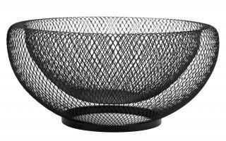 Koszyk na owoce metalowy czarny śr. 30cm