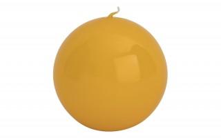 Świeca kula żółta śr. 10cm