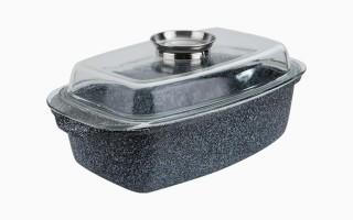 Brytfanna ceramiczna z powłoką żaroodporną