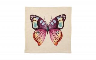 Poszewka 45/45 Motyl fiolet