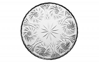 Talerz kryształowy płytki 17,5cm Zawiercie