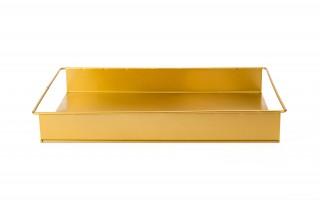 Taca ozdobna Lucas złoty mat (duża)