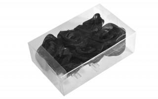 Klipsy ozdobne z czarną różą