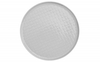 Talerz płytki obiadowy 26cm Marrakesz biały